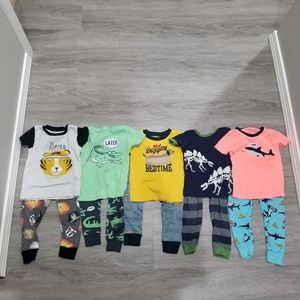 Crater's pairs of 2T boys pajamas
